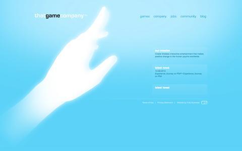 Screenshot of Home Page thatgamecompany.com - thatgamecompany | TGC - captured Jan. 15, 2015