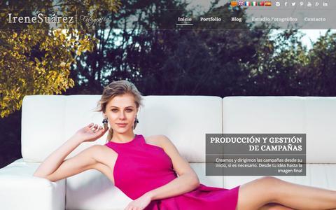 Screenshot of Home Page irenesuarez.com - Fotografo de moda y publicidad Barcelona - captured Jan. 9, 2016