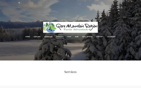Screenshot of Services Page gorechamber.com - Services - Gore Mountain Chamber - captured Jan. 20, 2018