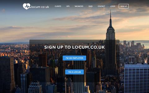 Screenshot of Signup Page locum.co.uk - Sign Up - locum.co.uk - captured Oct. 3, 2014