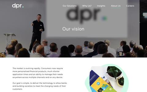 Screenshot of About Page dpr.co.uk - About Us | Financial Technology Software | DPR Group - captured Nov. 9, 2018