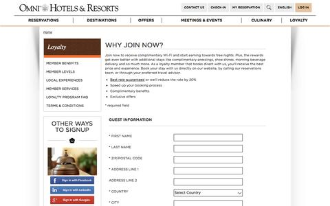 Join Select Guest Loyalty Program | Omni Hotels