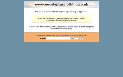 Screenshot of Home Page eucalyptusclothing.co.uk - www.eucalyptusclothing.co.uk is coming soon! - captured Aug. 28, 2017