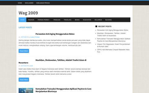 Screenshot of Home Page wag2009.com - Wag 2009 - Wag 2009 - captured Oct. 29, 2018