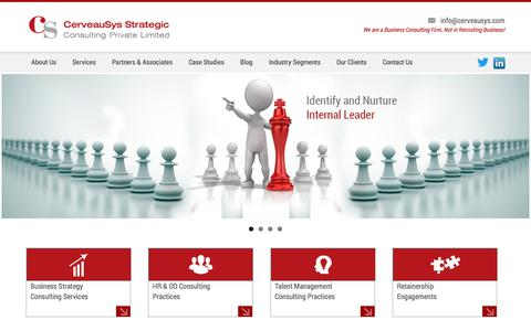 Screenshot of Home Page cerveausys.com - Business Consultant | Best Consultancy in Pune | Management Consulting Firms | CerveauSys - captured July 11, 2019