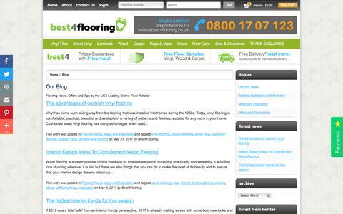 Screenshot of Blog best4flooring.co.uk - Our Blog  | Best4flooring UK - captured June 3, 2017