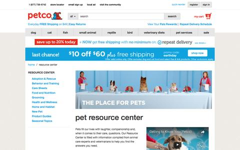 Pet Care Resource Center | Petco