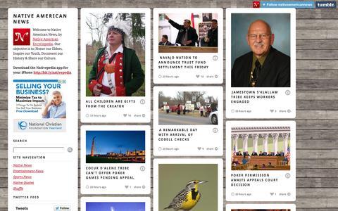 Screenshot of Press Page nativeamericanencyclopedia.com - Native American News - captured Sept. 23, 2014
