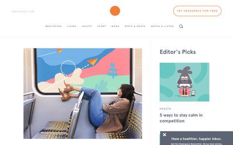 Screenshot of Blog headspace.com - The Orange Dot - captured July 25, 2017