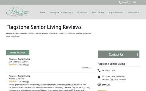 Screenshot of Testimonials Page milestoneretirement.com - Senior Living Resources | Flagstone Senior Living - captured Oct. 23, 2018