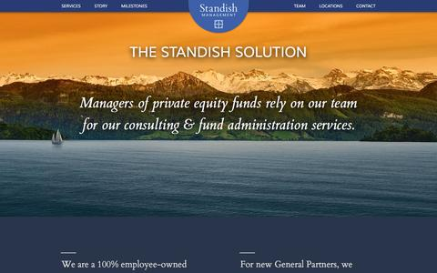 Screenshot of Home Page standishmanagement.com - Home - Standish Management - captured Dec. 3, 2016