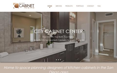Screenshot of Home Page citycabinetcenter.com - Kitchen Cabinets in San Diego - CITY CABINET CENTER - captured Nov. 4, 2018