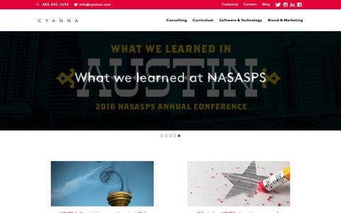 Screenshot of Blog cyanna.com - Blog – Cyanna Education Services - captured Nov. 15, 2016
