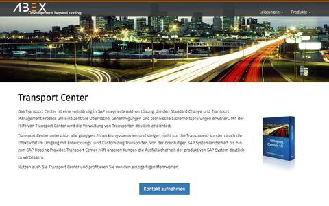 Screenshot of Login Page abap-experts.com - Transport Center - captured Oct. 6, 2017