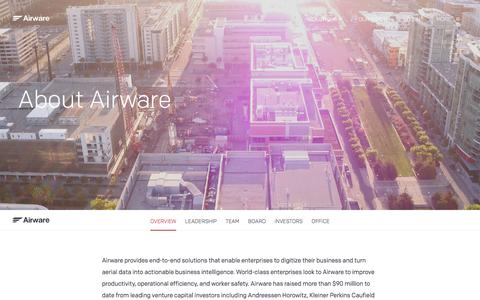 Screenshot of About Page airware.com - About Us   Airware - captured April 30, 2017