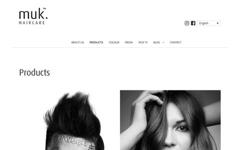 Screenshot of Products Page mukhair.com - Products Archive - muk haircare - captured Oct. 18, 2018
