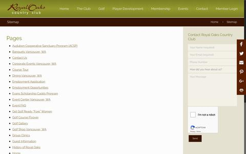Screenshot of Site Map Page royaloaks.net - Sitemap | Royal Oaks Country Club - captured Oct. 18, 2018