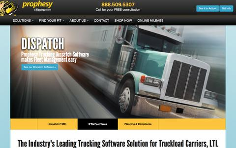 Screenshot of Home Page mile.com - Trucking Software   Mile.com Prophesy   Trucking Dispatch Software - captured Feb. 2, 2016