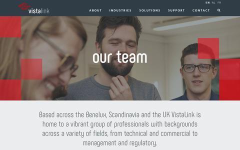 Screenshot of Team Page vistalink.eu - Our Team | Vista Link - captured Sept. 20, 2018