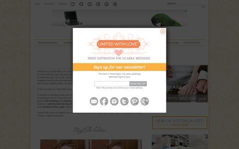 Screenshot of About Page unitedwithlove.com - Washington DC Weddings, Maryland Weddings, Virginia Weddings: About Editor Julianne Smith - captured Aug. 4, 2015