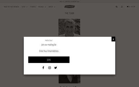 Screenshot of Team Page causegear.com - THE TEAM – CAUSEGEAR, L3C - captured July 14, 2018