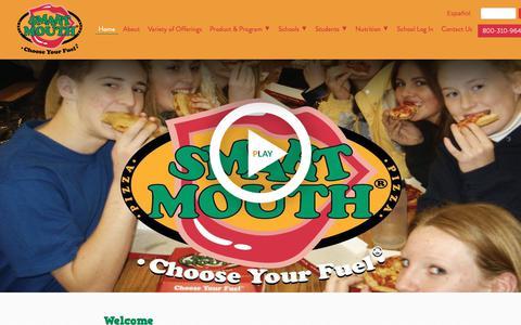 Screenshot of Home Page smartmouthfoods.com - Restaurant Quality Pizza - Smart Mouth Foods - captured Nov. 13, 2018