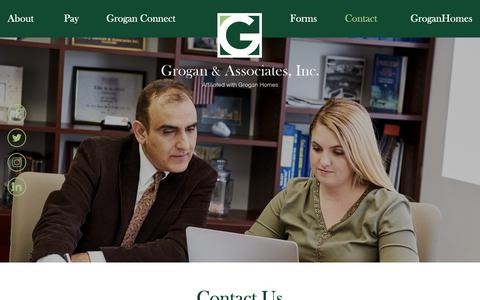 Screenshot of Contact Page groganassoc.com - Contact a real estate manager - Grogan & Associates - captured Sept. 30, 2018
