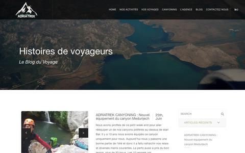 Screenshot of Blog adriatrek.com - Our Blog | Adriatrek - Agence de Voyage Locale Monténégro - captured July 29, 2018