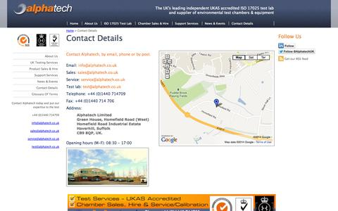 Screenshot of Privacy Page alphatech.co.uk - Contact Us: 01440 714709, info@alphatech.co.uk - captured Oct. 4, 2014