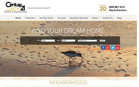Screenshot of Home Page century21aztec.com - Century 21 Aztec Realty - captured Sept. 19, 2015