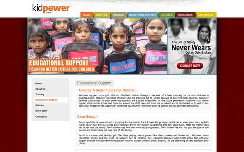 Screenshot of Products Page kidpower.org.in - Welcome to Kidpower - captured Oct. 6, 2014