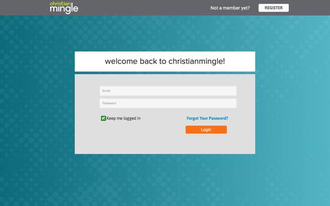 Screenshot of Login Page christianmingle.com - Online Christian Dating for Christian Singles | Christian Mingle - captured Aug. 17, 2017