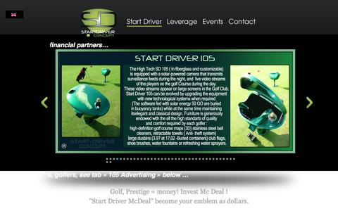 Screenshot of Home Page start-driver.com - L'univers Golfique START DRIVER du 21 me siecle - captured Dec. 15, 2015