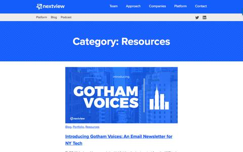 Resources Archives - NextView Ventures