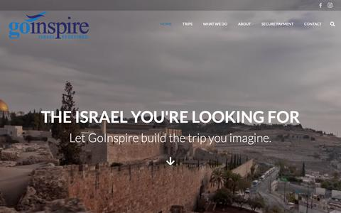 Screenshot of Home Page goinspire.com - Home | GoInspire - captured Sept. 29, 2018