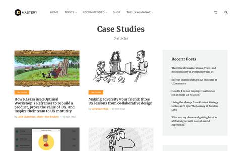 Screenshot of Case Studies Page uxmastery.com - Case Studies Archives - - captured Jan. 19, 2020
