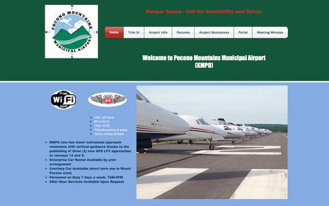 Screenshot of Home Page mpoairport.com - kmpo - captured Aug. 12, 2017