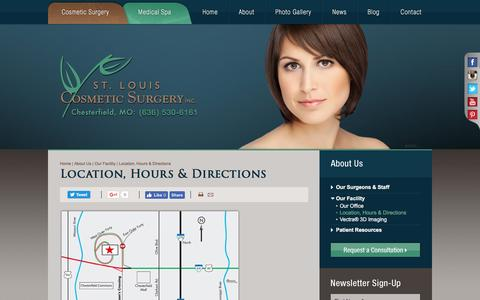 Screenshot of Maps & Directions Page stlcosmeticsurgery.com - Directions from Illinois for Plastic Surgery at St. Louis Cosmetic Surgery - captured Dec. 1, 2016
