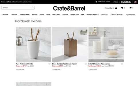 Toothbrush Holders | Crate and Barrel