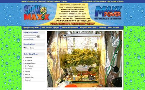 Screenshot of Home Page growmaxx.com - Grow Maxx | Michigan Garden Supply | Lighting | Nutrients | Hyrdoponics | Organic Soils - captured Jan. 27, 2015
