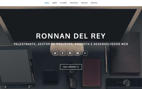 Screenshot of Home Page ronnandelrey.com.br - Ronnan del Rey - Palestras, Cursos, Gestão de Projetos e Desenvolvimento de softwares - captured March 4, 2016