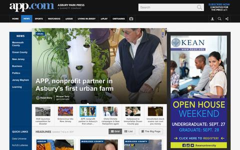 Screenshot of Press Page app.com - The Asbury Park Press NJ - News - captured Sept. 18, 2014