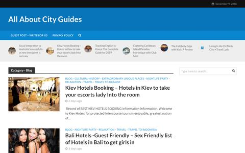 Screenshot of Blog allaboutcityguides.com - Blog Archives - All About City Guides - captured Dec. 9, 2018