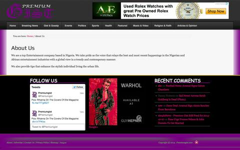 Screenshot of About Page premiumgist.com - About Us - Premium Gist - captured Nov. 3, 2014