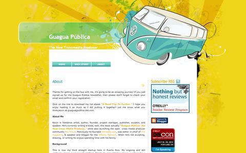 Screenshot of About Page guaguapublica.com - Guagua Pública: About - captured Oct. 3, 2014