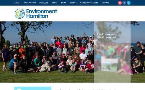 Screenshot of Signup Page environmenthamilton.org - Join - Environment Hamilton - captured Dec. 8, 2018