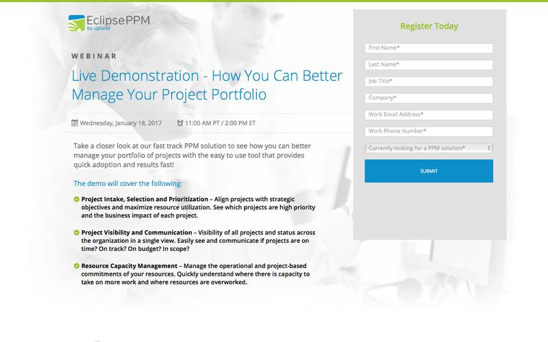 Eclipse PPM Webinar: Product Demonstration