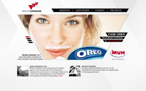 Screenshot of Home Page brand-upgrade.de - BRAND UPGRADE   Home - captured Sept. 30, 2014