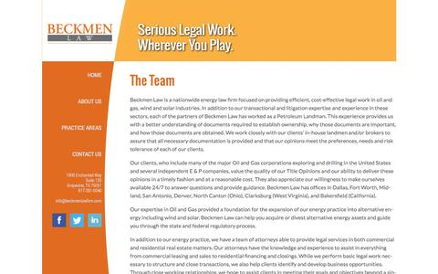 Screenshot of About Page Team Page bcdalaw.com - Beckmen Law - captured Oct. 23, 2014