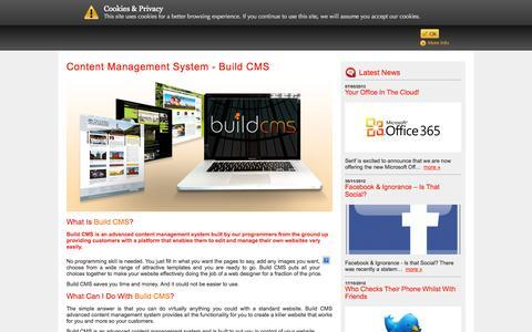 Screenshot of Products Page serif.net - content management system - Build CMS > Your Technology Partner > Website Development | I.T. Support | Digital Marketing | Leeds - captured Oct. 3, 2014